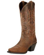 womens bridget round boot distressed