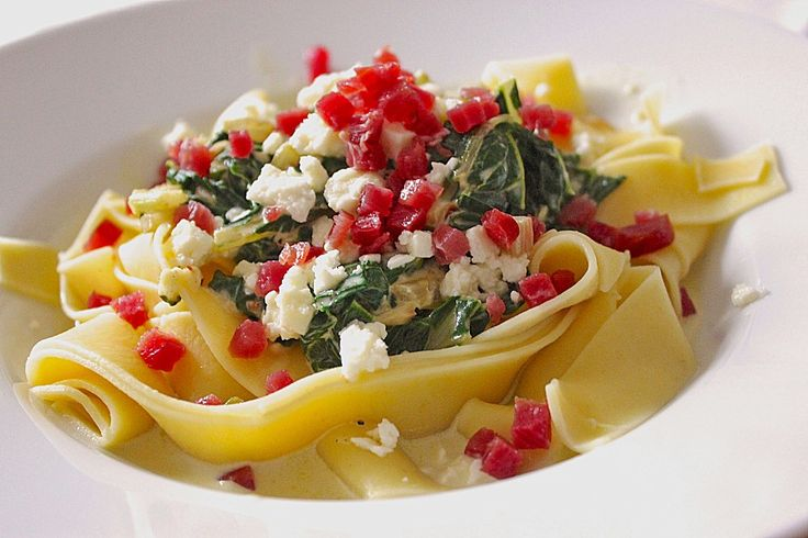 Spaghetti mit Mangold - Fetacreme, ein gutes Rezept aus der Kategorie Gemüse. Bewertungen: 117. Durchschnitt: Ø 4,3.