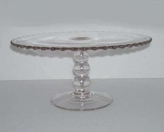 Imperial Glass Candlewick Cake Stand Pedestal Plate Three Bead Stem & 985 best Cake Stands Plates u0026 Carriers images on Pinterest | Cake ...