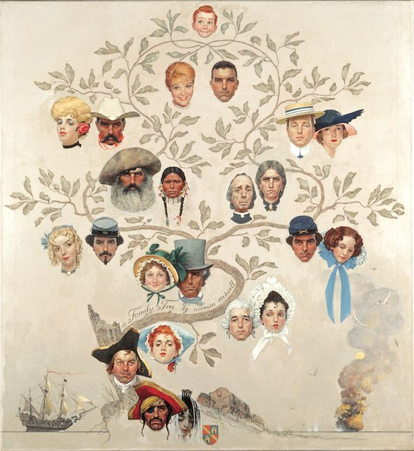 Norman Rockwell Family Tree (Albero genealogico), 1959 Olio su tela, 117 x 106 cm Cover of The Saturday Evening Post, October 24, 1959 Collection of The Norman Rockwell Museum at Stockbridge, Norman Rockwell Art Collection Trust, NRACT.1973.7 ©1959 SEPS: Licensed by Curtis Licensing, Indianapolis, IN, USA. All rights reserved. www.curtislicensing.com Norman Rockwell Museum Collections