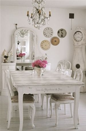 too much white, but I love the table and chairs!