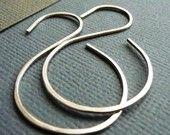 Simple Sterling Silver Earrings. Inverse. Modern Contemporary Sleek Elegant Design. Sterling Silver Jewelry. Handmade by Epheriell on Etsy.