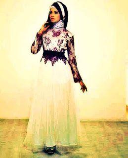 Contoh Model Baju Muslim Brokat