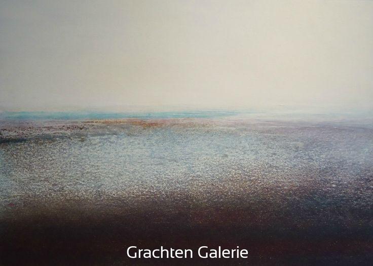 Z.t. 22   Andre Hoppzak   Schilderij   Paiting   Kunst   Art   Bruin   Brown   Zwart   Black   Wit   White   Grachten Galerie   Blauw   Blue