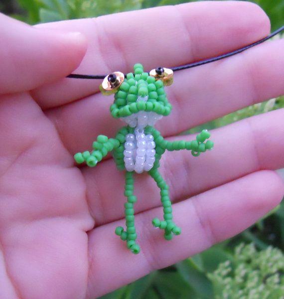 Frog Seed Bead Doll