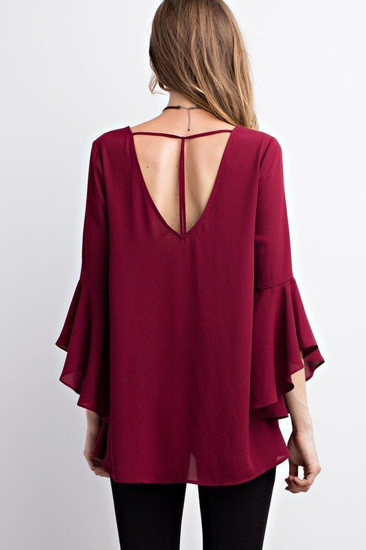 Kiss & Tell Bell Sleeve Top
