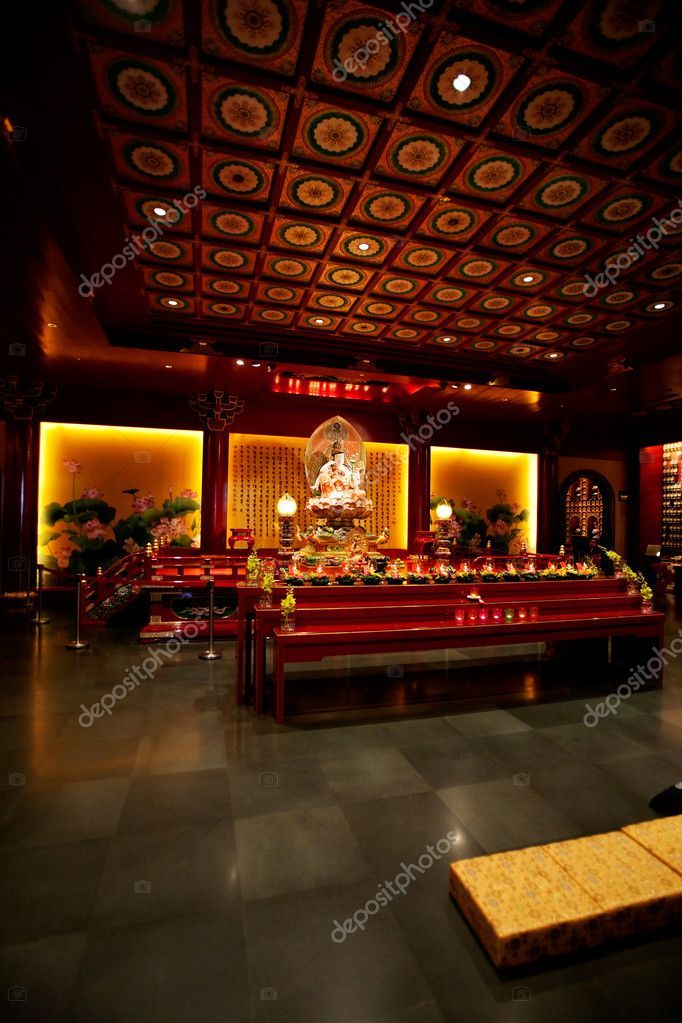 Buddhist Temple Interior Stock Photo Ad Temple Buddhist