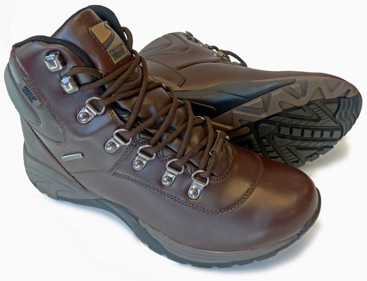 Waterproof walking boots with a grippy sole and a classic look.