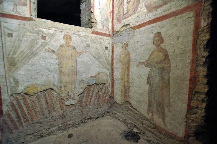 Casa romana del Celio. Basilica dei Santi Giovanni e Paolo, Roma. Gli affreschi del IV secolo. Foto di Pavel Otdelnov