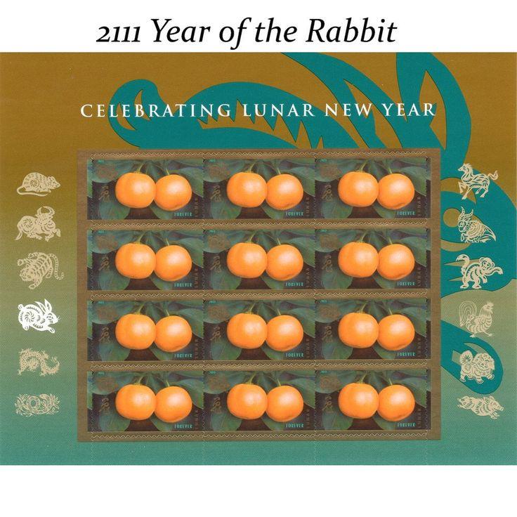 55c Lunar Year of the Rabbit Vintage Unused US Postage