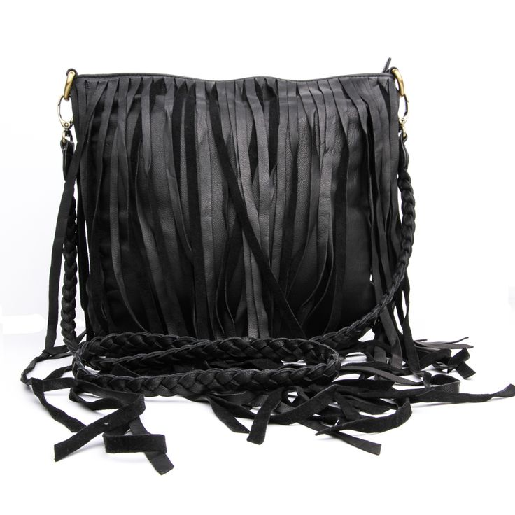 Leni Bag | meme & co. Handmade in soft genuine black leather, featuring a long plaited strap that can be removed, two inner pockets and a zippered compartment - See more at: http://www.memeandco.com/product/leni-bag#sthash.ubP4gNkY.dpuf