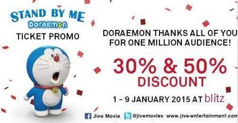 Diskon Tiket Film Stand By Me Doraemon Periode 1-9 Januari 2015