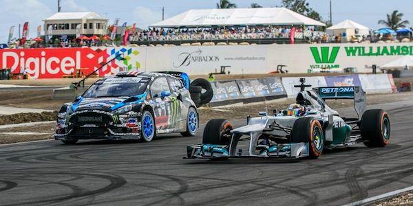 Watch Ken Block's Ford Fiesta ST vs Lewis Hamilton's Mercedes F1 [video]