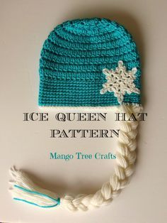 Frozen Elsa crochet hat pattern