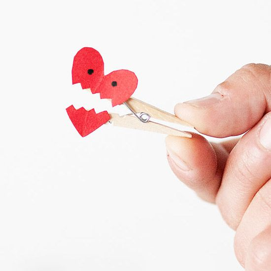 Two fun Valentine crafts that really bite. Fun for kids on a rainy day or as a class project.