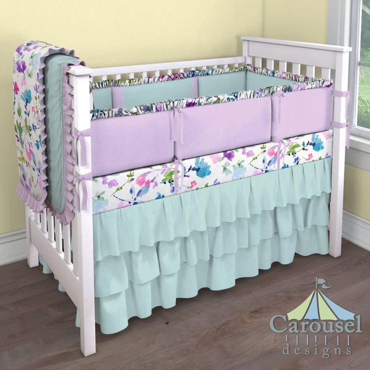 Custom Nursery Bedding   Baby girl crib bedding, Carousel ...