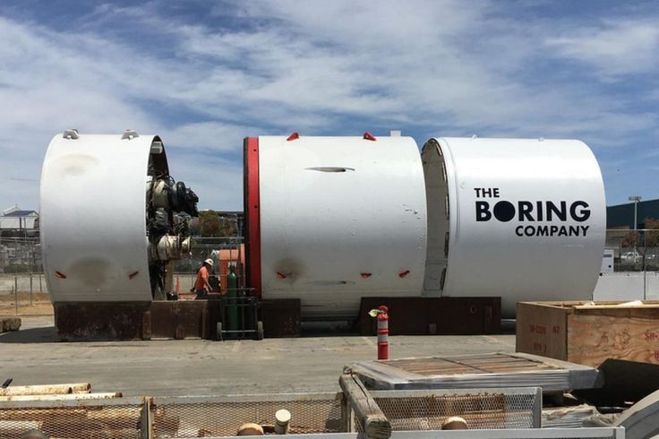 Here's our first glimpse of Elon Musk's tunnel boring machine - The Verge