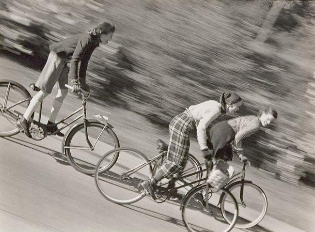 Artist: Herman Landshoff; Untitled (Girls on bicycles)