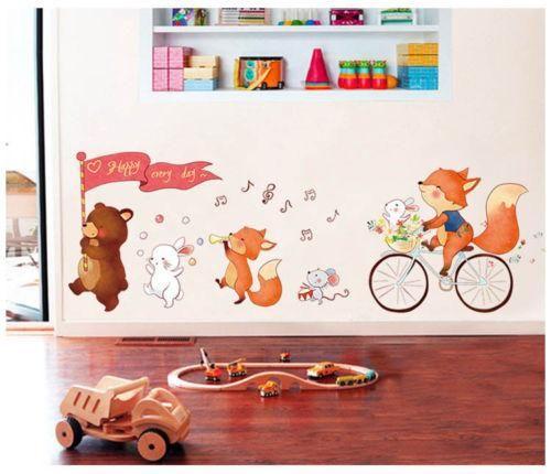 Wandtattoo Wandaufkleber Kinderzimmer Bären Dekoration