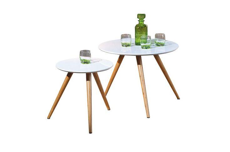 Inoda Satsbord Rund Bambu/Vit