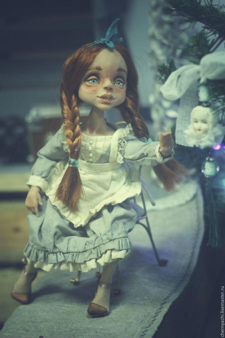 Купить Ая - кукла ручной работы, кукла в подарок, кукла интерьерная, комбинированный, living doll