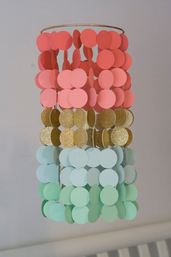 Hey, I found this really awesome Etsy listing at https://www.etsy.com/listing/203173373/coral-mint-and-gold-paper-crib