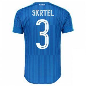 Slovakia National Team 2016 Away Jersey Blue Soccer Shirt #3 Skrtel [E346]