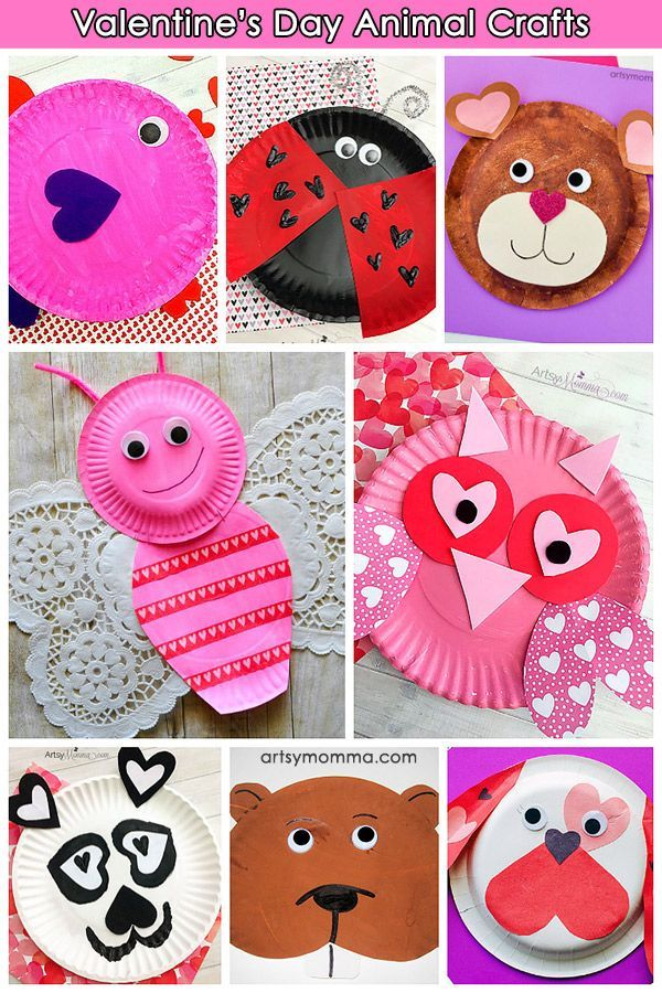 The Cutest Valentine S Day Paper Plate Animals Made With Heart