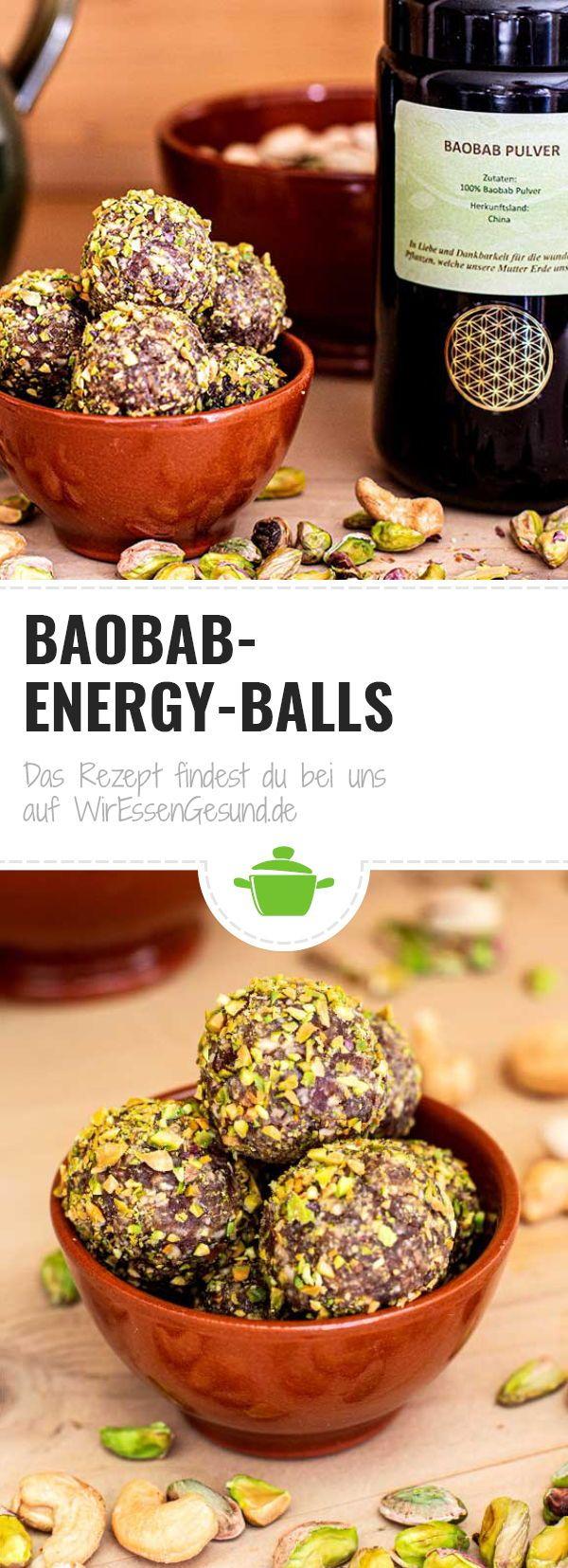 Baobab Energy Balls Wiressengesund Rezept Rezepte Gesunde Snacks Lecker Kochen