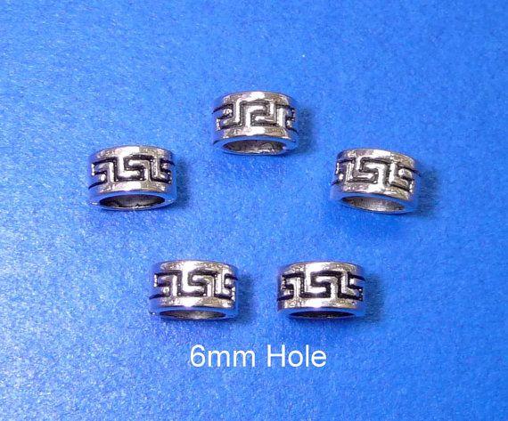 6x6mm hole Tibetan Silver DREADLOCK RING Beard ring by artstudio88