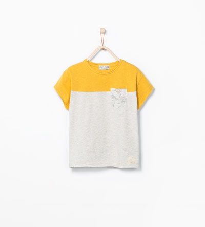 Mixed sleeve T-shirt