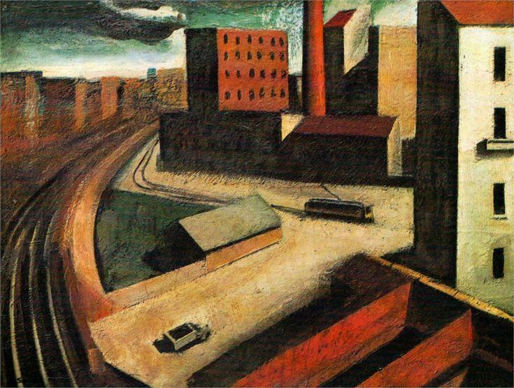Urban landscape, 1922 -Mario Sironi - by style - Metaphysical art