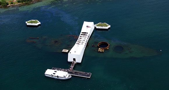 5 Facts About Pearl Harbor and the USS Arizona  1. Twenty-three sets of brothers died aboard the USS Arizona.  2. The USS Arizona's entire band was lost in the attack.  3. Fuel continues to leak from the USS Arizona's wreckage.  4. Some former crewmembers have chosen the USS Arizona as their final resting place.  5. A memorial was built at the USS Arizona site, thanks in part to Elvis Presley.