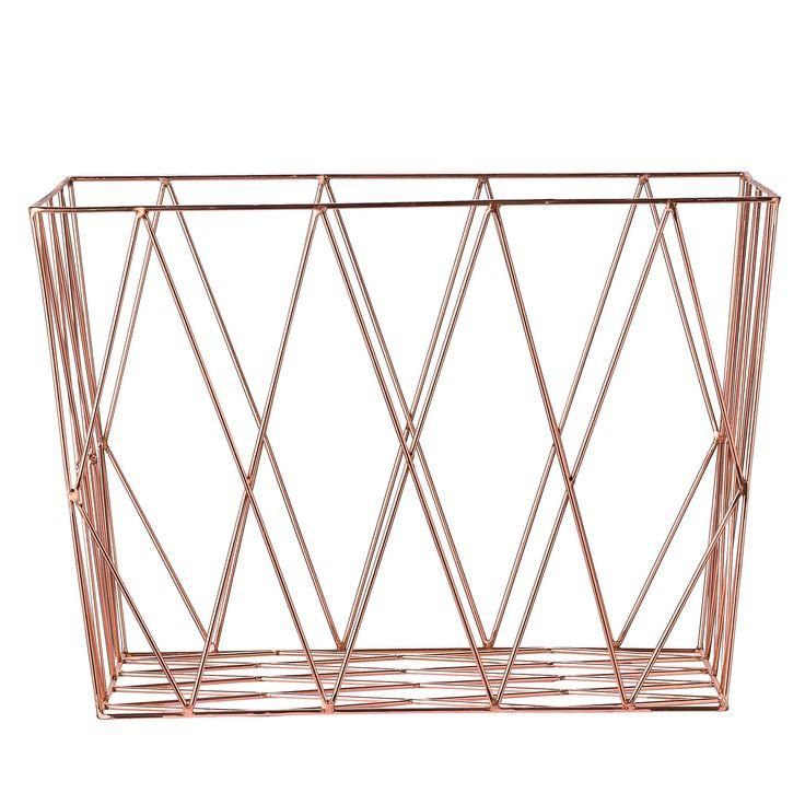18 best Basket images on Pinterest | Copper wire basket, Storage ...