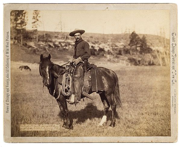 Unknown cowboy -- I believe the small print states the year 1887