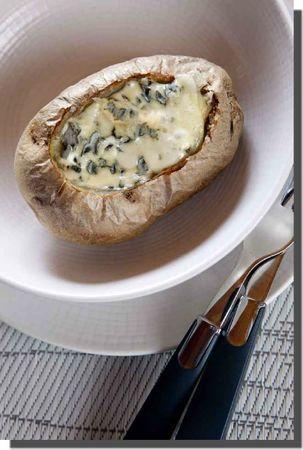 Pommes de terre au Bleu d'Auvergne