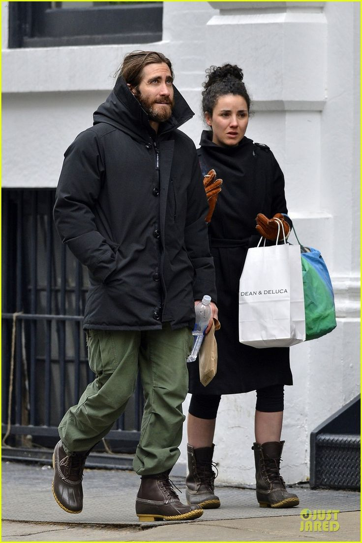 Actor Jake Gyllenhaal spotted on the streets of NYC during fashion week wearing #LLBean Bean Boots. Feb 2014.
