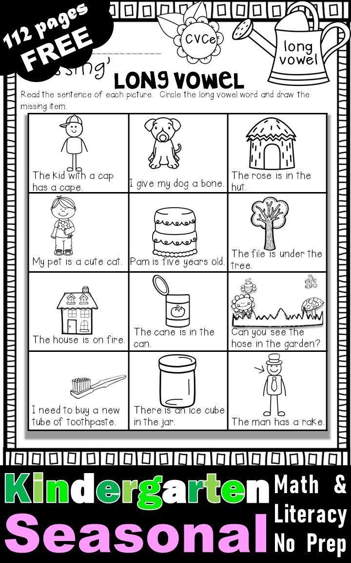 Fall Winter Spring Summer Free Math Literacy Printables Kindergarten Free Kindergarten Worksheets Kindergarten Worksheets Sight Words Teaching Kindergarten Writing [ 1152 x 720 Pixel ]