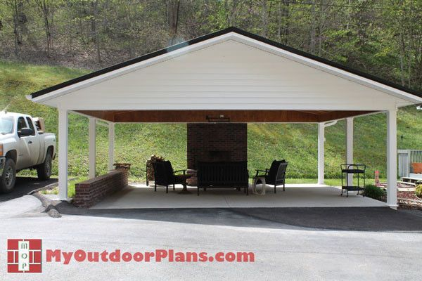 25 best ideas about double carport on pinterest for Double carport plans