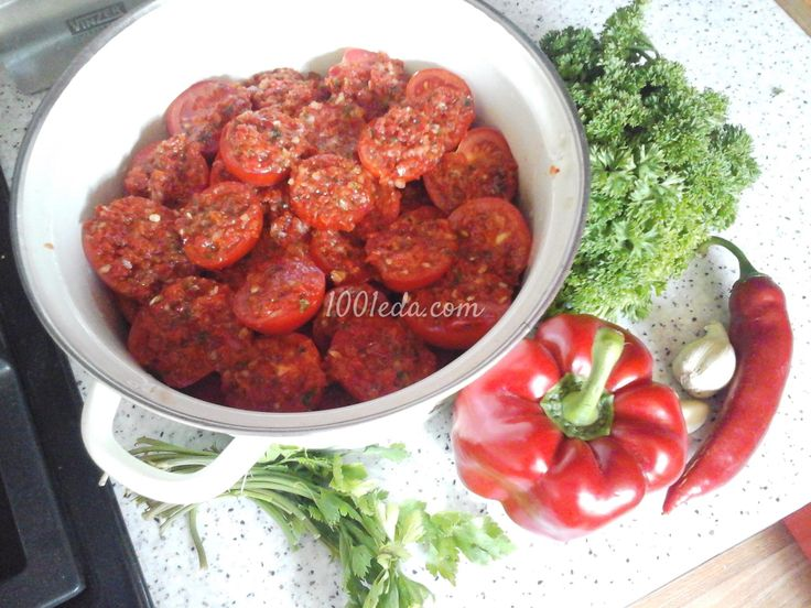 Маринованные помидоры быстрого приготовления.