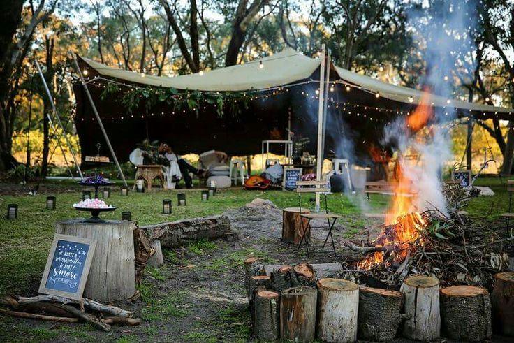 Bonfire. Bush. Trees. Love. Wedding.  Email us at Hello@stretchedevents.com. #wedding #weddinginspiration #weddinginspo #eventhire #eventstyling #festoon #lighting #magical #creative #enchanted #outdoorwedding #bride #bridal #love #soulmates #romantic #bushwedding #nature #tree #treelove #bohemian #boho #rustic #vintage #newlyweds #forest #lit #unique #earthy #sustainable