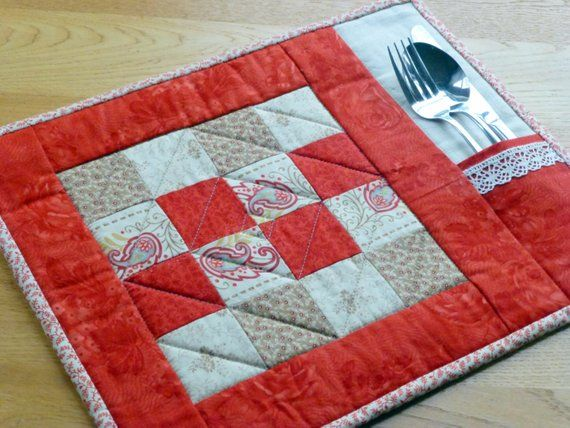 Pdf Pattern For 6 Quilted Placemats Coasters Beginner Etsy Place Mats Quilted Quilted Placemat Patterns Placemats Patterns