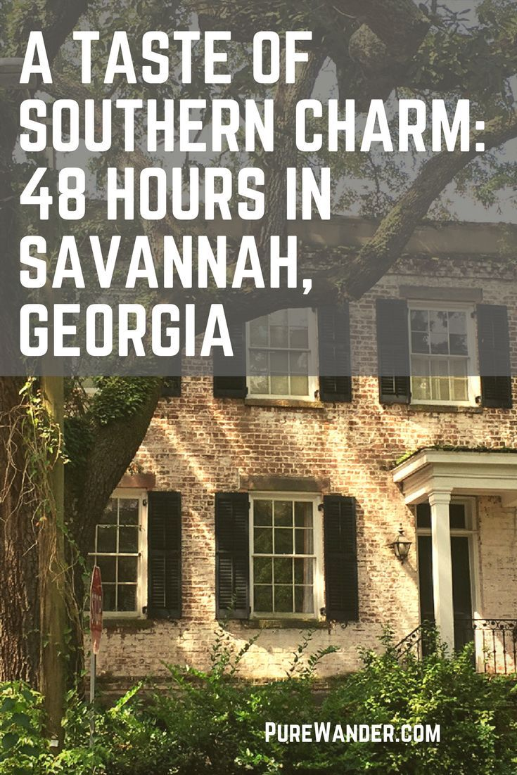 Savannah Georgia inspiration - a perfect place for USA travel. Best honeymoon destination in the US, plus plenty of great southern cooking restaurants to choose from!