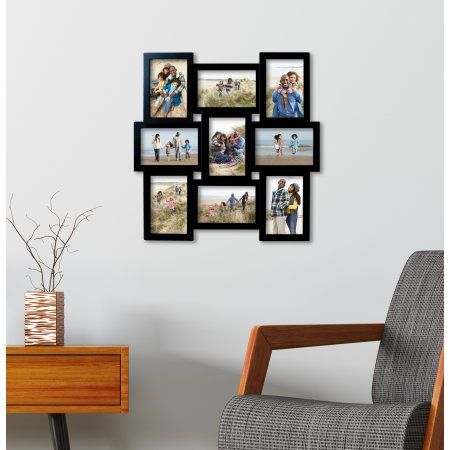 Melannco Black 9 Opening Photo Collage, Picture Frame | Collage ...