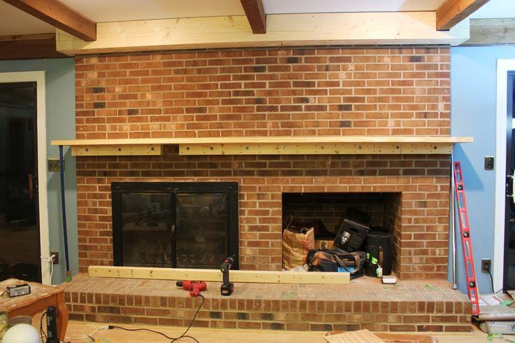 {Rewind} Building a Fireplace Facade: Installing a Mantel on a Brick Fireplace