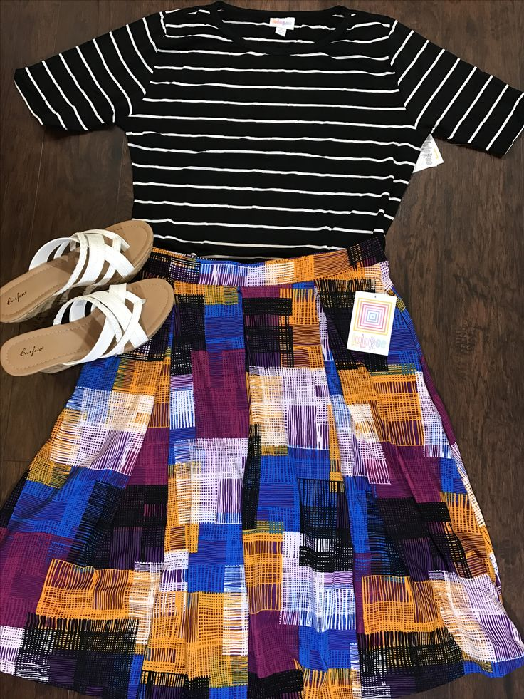 Lularoe Madison over the top of lularoe Julia! Great pattern mixing outfit