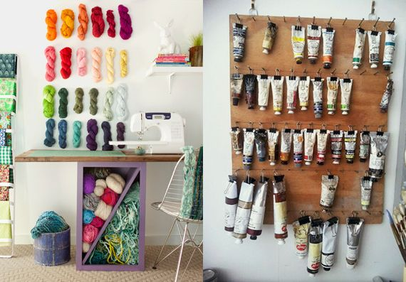 Organized craft room inspiration creative spaces pinterest paint craft rooms and storage - Organizing small spaces cheap paint ...