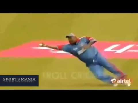 Top 10 best one hand catches in cricket 2016   One hand catches