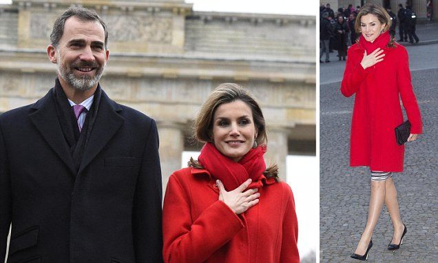 Wintry weather gets the better of Queen Letizia's hair in Berlin