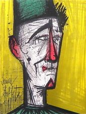 "Bernard BUFFET ""Jojo the Clown"" original lithograph"